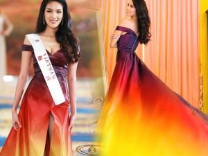 Váy hot nhất tuần: Đầm Lan Khuê mặc ở Miss World