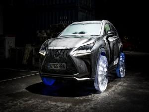 Độc đáo bánh xe bằng băng của Lexus NX