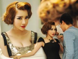 Hot girl Elly Trần tình tứ bên MC Phan Anh