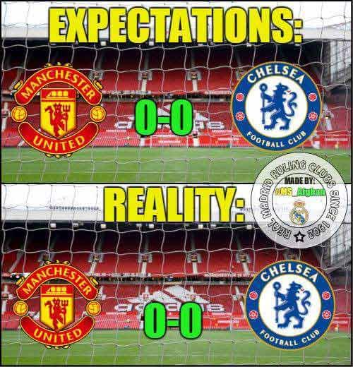 Ảnh chế trận hòa kinh điển giữa Man Utd - Chelsea - 2