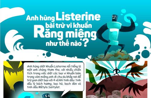 Anh hùng Listerine bài trừ vi khuẩn răng miệng như thế nào? - 1