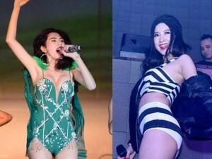 Top mỹ nhân Việt 'gây bão' vì mặc 'đồ bơi' lên sân khấu