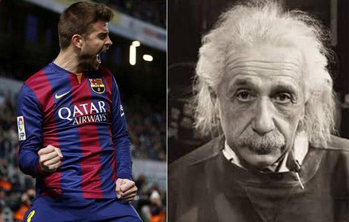 Pique: Cầu thủ thông minh hơn nhà bác học Einstein - 1