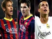 Bóng đá - Đội hình France Football 2015: Bộ 3 Messi, Neymar, Ronaldo