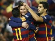 Bóng đá - Đá trận 500 cho Barca, Messi tỏa sáng rực rỡ