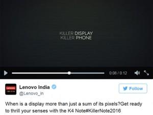 """Lenovo gọi K4 Note là """"kẻ hủy diệt màn hình"""""""