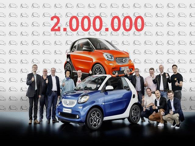 Xe Smart cán mốc 2 triệu chiếc bán ra trên toàn thế giới - 1