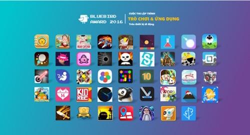 Công bố 43 game, ứng dụng vào trung loại Giải thưởng chim xanh - 1