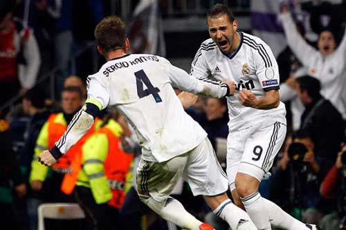 "Real  Madrid – Eibar: ""Trảm"" Ramos & Benzema - 1"