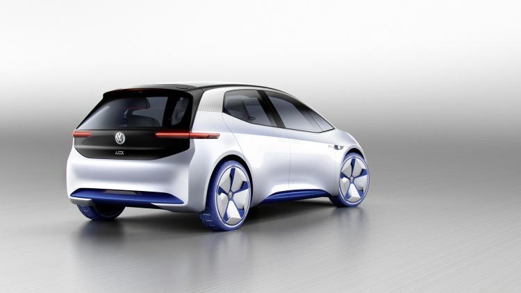 Chi tiết ngoại hình mẫu xe điện Volkswagen I.D. Concept mới - 3