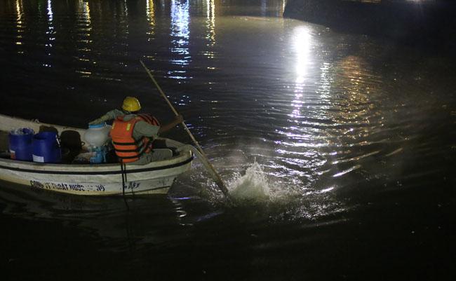 Chùm ảnh: Trắng đêm vớt cá chết ở Hồ Tây - 18