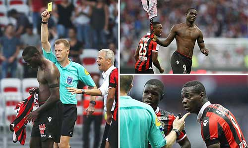 Balotelli bị đuổi sau 6 phút lập siêu phẩm - 1