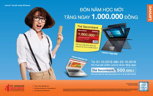 Tiếp tục tặng ngay 1 triệu đồng khi mua máy tính Lenovo - 1