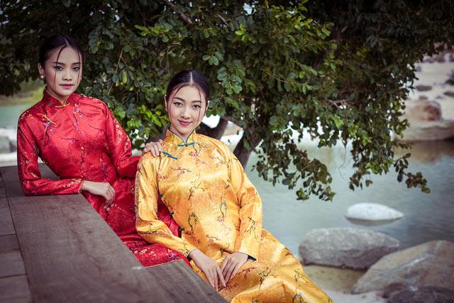 """Top 5 Hoa hậu Việt Nam 2016 đẹp """"nghiêng thành"""" với áo dài - 13"""