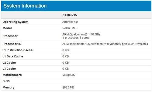 Điện thoại Nokia D1C chạy Android 7.0, giá mềm - 3
