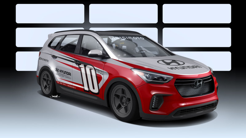 Hyundai Santa Fe phiên bản độ Bisimoto công suất 1.040 mã lực - 1