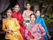 """Thời trang - Top 5 Hoa hậu Việt Nam 2016 đẹp """"nghiêng thành"""" với áo dài"""
