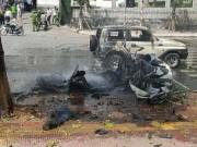 Vụ nổ taxi ở Quảng Ninh: Nghi án hành khách tự sát bằng mìn