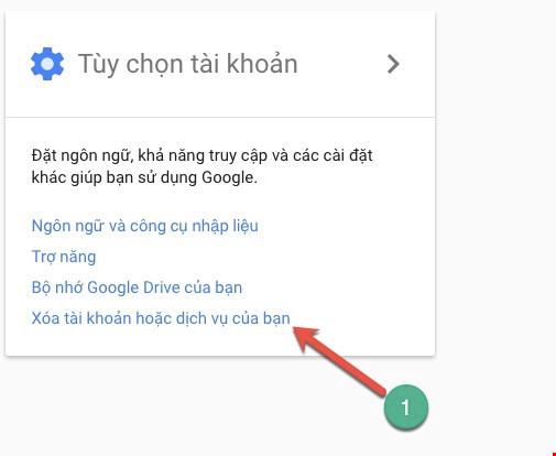 4 bước để xóa vĩnh viễn tài khoản Google - 2