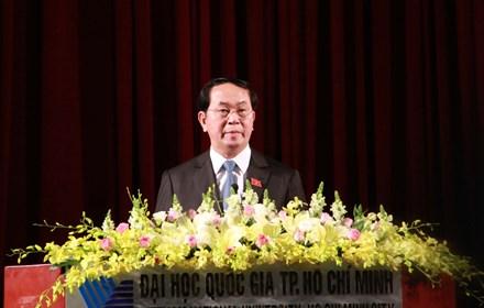 Chủ tịch nước: ĐH Quốc gia TP HCM phải là nơi hội tụ nhân tài - 1