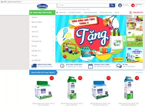 """Vinamilk ra mắt website thương mại điện tử """"giấc mơ sữa Việt"""" - 1"""