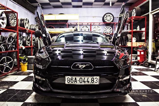 Hình ảnh của chiếc Ford Mustang thuộc phiên bản giới hạn- 50 Year Limited Edition nổi bật với tông màu trắng tinh khôi xuất hiện tại một showroom tư nhân từng thu hút sự quan tâm của cồng đồng mạng.