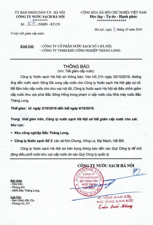 Đường nước sông Đà gặp sự cố, 70.000 hộ dân bị ảnh hưởng - 2