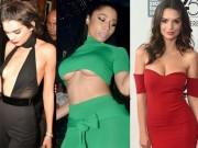 Thời trang - 1001 kiểu mặc váy khoe vòng 1 gợi cảm của sao Hollywood