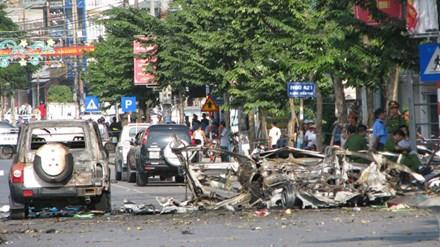Vụ nổ taxi ở Quảng Ninh: 'Bố cháu đi sửa ti vi chưa về' - 1