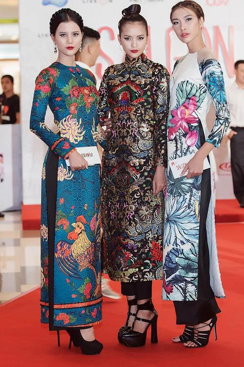 Quán quân Next Top diện áo dài rực rỡ như hoa hậu - 1