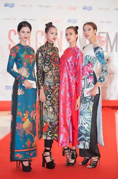 Quán quân Next Top diện áo dài rực rỡ như hoa hậu - 6
