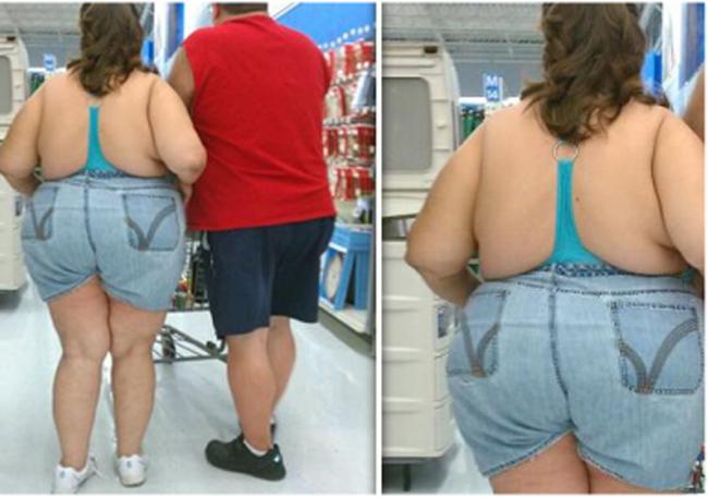 """Thời trang """"lạ"""" xuất hiện trong siêu thị."""