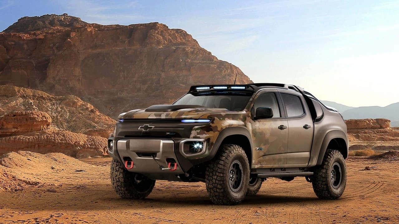 """Chevrolet Colorado ZH2 concept - Xe """"tàng hình"""" của Quân đội Mỹ - 1"""