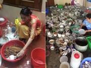 Bạn trẻ - Cuộc sống - Dâu mới kinh hãi khi một mình rửa hết 11 mâm chén đĩa