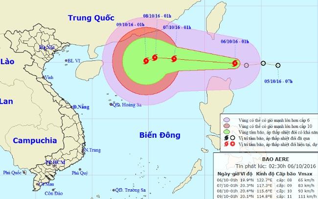 Áp thấp nhiệt đới mạnh lên thành bão, áp sát Biển Đông - 1