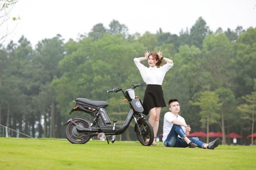 Xe đạp điện trang bị phanh đĩa chất như xe máy chạy xăng cao cấp - 5