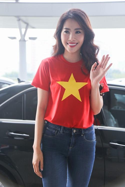 Nam Em mặc giản dị, tự tin lên đường dự thi Miss Earth - 3