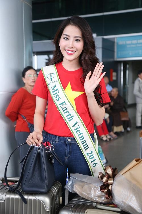 Nam Em mặc giản dị, tự tin lên đường dự thi Miss Earth - 9