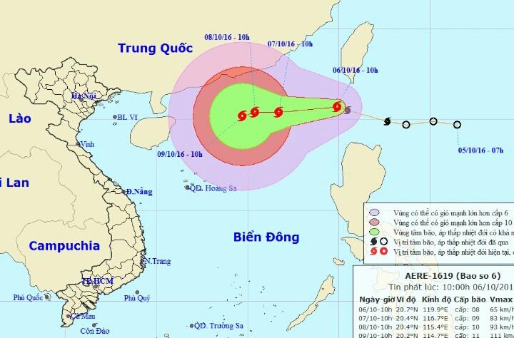 Bão số 6 đổ bộ vào Biển Đông - 1