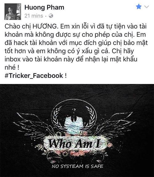 Thực hư Hoa hậu Phạm Hương bị hack Facebook - 1