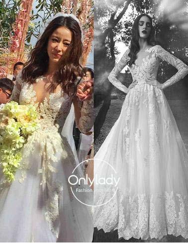 Những mẫu váy cưới đẹp như mơ của sao Hoa ngữ - 4