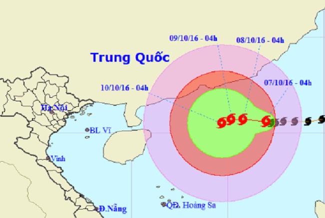 Bão số 6 áp sát quần đảo Hoàng Sa - 1