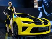 Tư vấn - Cận cảnh Chevrolet Camaro SS vàng đen tại VMS 2016