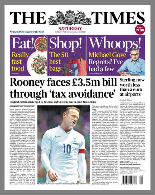"""NÓNG: """"Bắt chước"""" Messi, Rooney bị nghi trốn thuế - 1"""