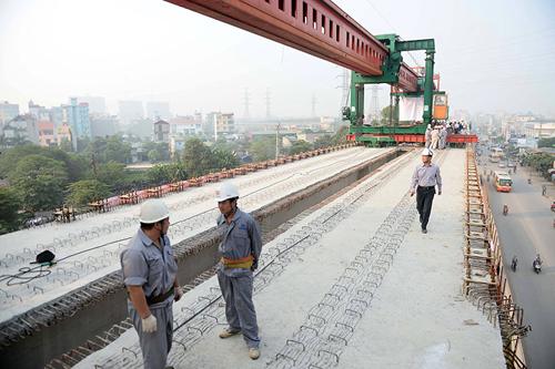 Hợp long toàn tuyến đường sắt trên cao Cát Linh – Hà Đông - 1