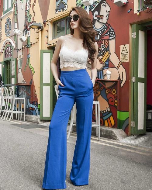 Khánh My sành điệu trên đường phố Singapore - 6