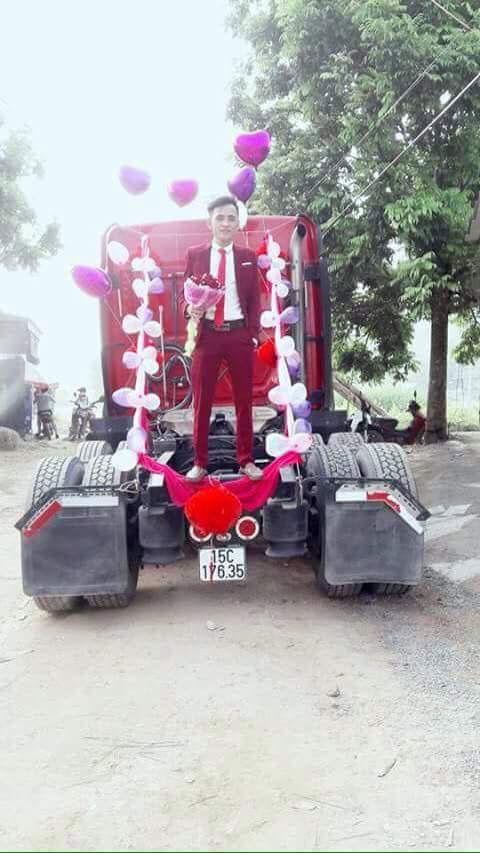 """9x Bắc Giang rước dâu """"cực chất"""" bằng xe container - 2"""