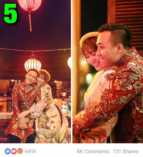 """7 hình ảnh Trấn Thành tình tứ với bạn gái nhiều """"like"""" nhất - 4"""