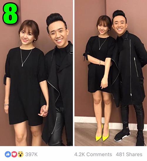 """7 hình ảnh Trấn Thành tình tứ với bạn gái nhiều """"like"""" nhất - 6"""