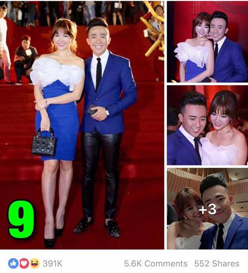 """7 hình ảnh Trấn Thành tình tứ với bạn gái nhiều """"like"""" nhất - 7"""